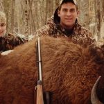 buffalo shot with custom muzzleloader