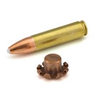 450 bushmaster cartridge with mushroomed bullet